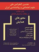 چاپ مقاله در هفتمین دوره همایش ملی پژوهش در علوم اجتماعی و روانشناسی ایران