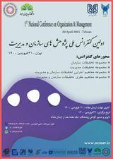 چاپ مقاله در اولین کنفرانس ملی پژوهش های سازمان و مدیریت